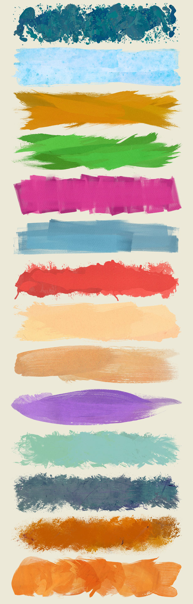 Paint Brush Strokes Lower Thirds - HD pack - 2
